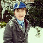 Jack after an intense snowball fight with his school friends